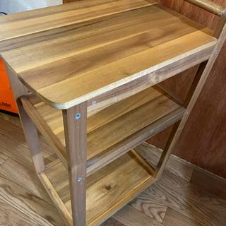 【無料】【引取り限定】IKEA 木製キッチンワゴン
