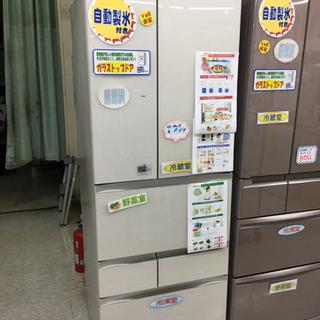 555L冷蔵庫 東芝 2016年製 ガラストップフレンチドア