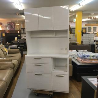 S077   NITORI キッチンボード、食器棚、幅100cm