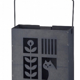 美品 蚊遣り箱 縦型 蚊取り線香スタンド スチール製