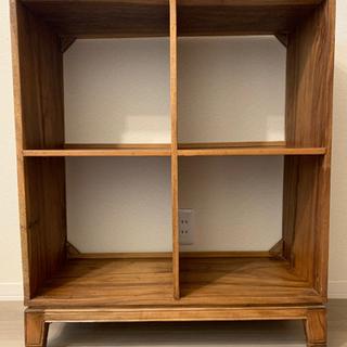 【取りに来れる方限定】木製シェルフ 本棚 アジアン アンティーク