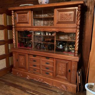 【ネット決済】食器棚 飾り棚 ディスプレイ収納