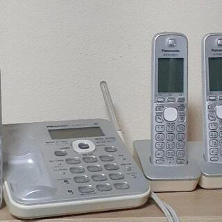 Panasonic コードレス電話機VE-GD51-S 子機2台...