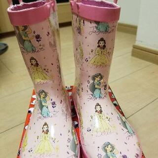 値下げ長靴 レインブーツ 17-19cm Disney プリンセス