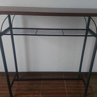 タムカウンターテーブル 幅100×奥行35×高さ90.5cm、重...