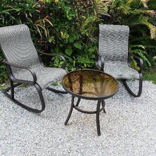 US.ガーデンロッキングチェア セット