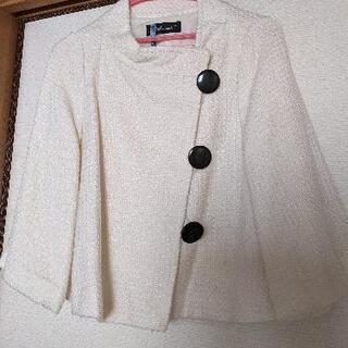 白のコート はおり ジャケット