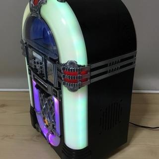 <動作>レトロ調・ジュークボックス型CDプレイヤー  - 家電