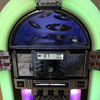 <動作>レトロ調・ジュークボックス型CDプレイヤー  - 一宮市