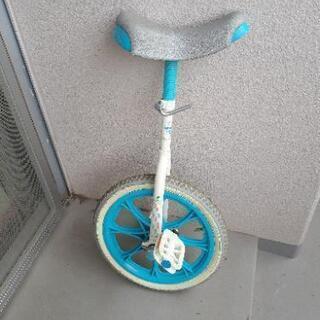 一輪車、水色