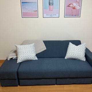 【ネット決済】ニトリで購入ソファベッド 布張りソファベッド(タキ...