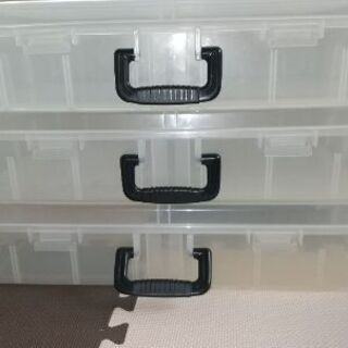 ベッド下収納ケース3個