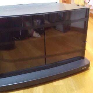 テレビ台 W66cm×D53cm×H42cm 黒  キャスター付