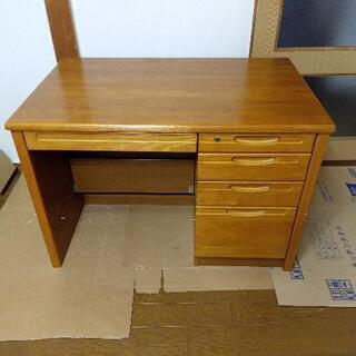 木製の事務机