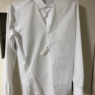 ほぼ新品 ウイングカラーシャツ 結婚式用 ドレスYシャツ