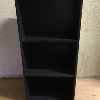 木製 3段 カラーボックス 本棚 収納棚 ダークブラウン 幅42...
