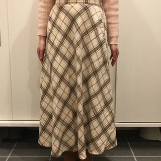 RAY CASSIN ロングスカート チェック 冬物 フリーサイズ