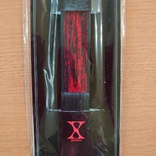 X JAPAN扇子(赤)
