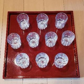 【ネット決済】松竹梅ぐいのみグラス 10口/箱×1箱