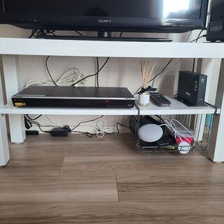 【ネット決済】IKEAテレビ台(収納ラック付き)売ります。