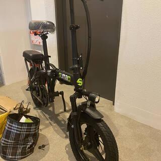 【ネット決済・配送可】二人乗り フル電動自転車 速度35kmh+...