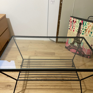 フランフラン ガラステーブル