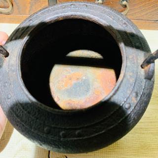 鉄瓶と茶道具入れ付き火鉢 茶机 - 売ります・あげます