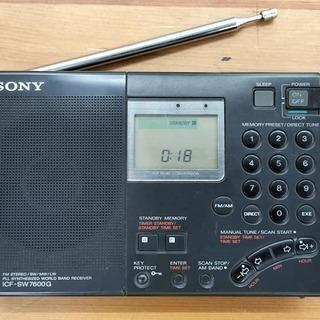 【愛品館江戸川店】なかなか入ってこないソニー短波ラジオ「ICF-SW7600G」ID:132-01118-007の画像