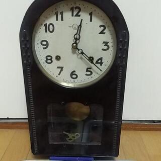 【ネット決済】昔の柱時計おまけ付き