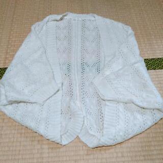 LIZ LISAのホワイトかぎ編みニットボレロ