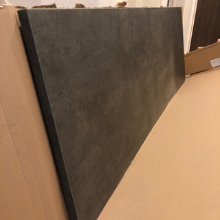 IKEA キッチンワークトップ ダークグレー 大理石調