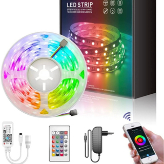 新品未使用、LEDテープライト RGB ストリップライト 5m ...