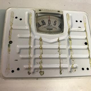 古い体重計。差し上げます。