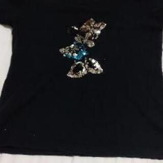 きらきらミニーマウス半袖ティーシャツキッズの画像