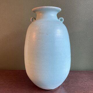 陶器 花瓶 みずいろ 「真」