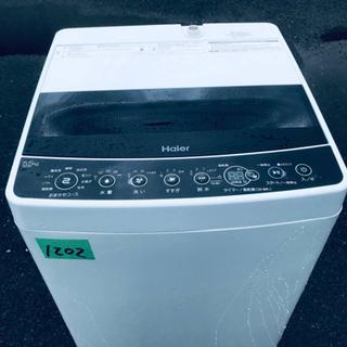 ①✨2019年製✨1202番 Haier✨全自動電気洗濯機…