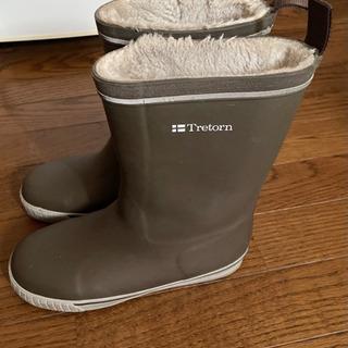 Tretorn トレトン長靴 レインブーツ毛付き ブラウン