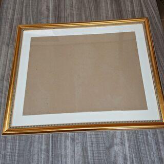 【額縁】額面 ゴールド/金縁 木製フレーム サイズ/H580*W730*D20(mm) アンティーク調 絵画/写真/書画【フォトフレーム】の画像
