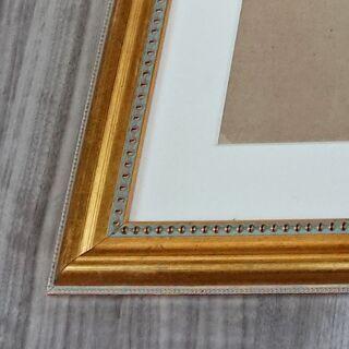 【額縁】額面 ゴールド/金縁 木製フレーム サイズ/H580*W730*D20(mm) アンティーク調 絵画/写真/書画【フォトフレーム】 - 家具