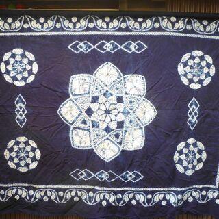 藍染の絞り布【未使用品】