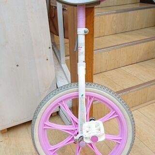 一輪車 18インチ 13-15C ホワイト×ピンク UNI CY...