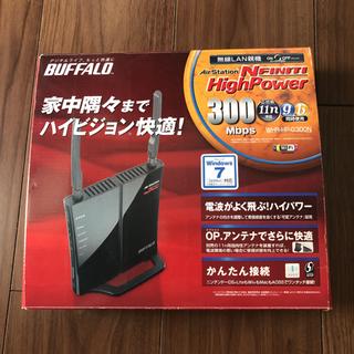 【中古】無線LAN親機 BUFFALO WHR-HP-G300N