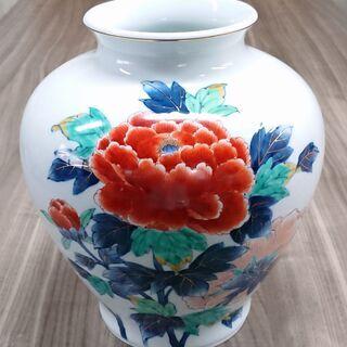 【肥前 有田焼】牡丹絵 花瓶 サイズ/H310*W270*…