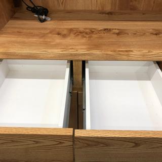 ✨オシャレ✨ 木目の食器棚 - 家具