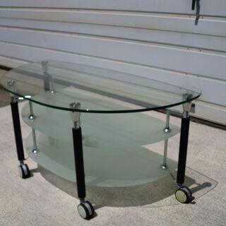 (北見市民限定)ガラステーブル(北見市廃棄物対策課・リユース品)...