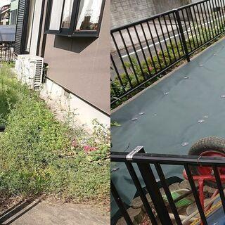 防草シート張り.庭砂利.固まる土.人工芝張り 承ります。遠賀郡:...