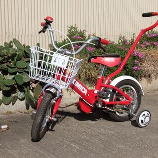 【ネット決済】子ども用 自転車 トミカ 12インチ 補助棒付き ...