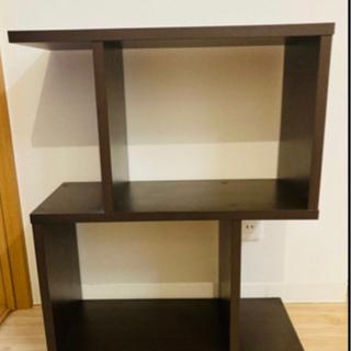 デザイン棚 ディスプレイラック 本棚 収納 ラック 2段タイ