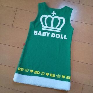 【ネット決済】新品ボア付ジャンパースカート110緑ベビードールB...