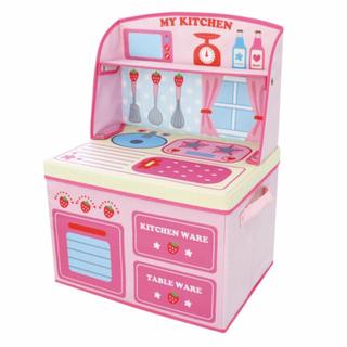 【ネット決済】ままごとキッチン☆収納ボックス☆折りたたみ可能